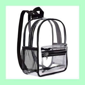 New mini clear backpack